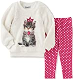 Kids Headquarters Baby Faux Fur Tunic with Leggings Set