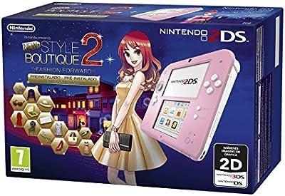 Nintendo 2DS, Rosa + N. Style Boutique 2 Preinstallato [Bundle] [Importación Italiana]