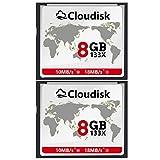 2pcs Prestazioni della scheda di memoria CF Compact Flash da 8 GB per fotocamera digitale vintage (8GB)
