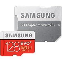 Samsung EVO Plus - Tarjeta de memoria microSD de 128 GB con adaptor SD (velocidad hasta 80 MB, Class 10, resistente al agua)