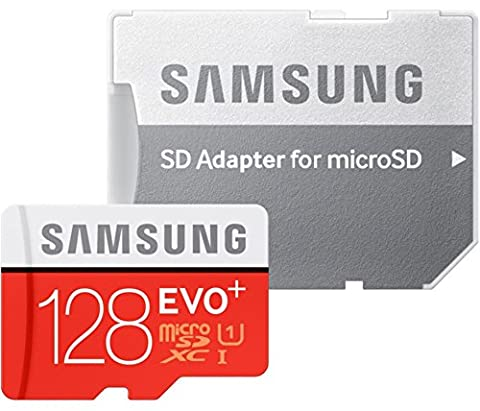 Samsung Memory Carte Mémoire 128 GB EVO Plus MicroSDXC UHS-I