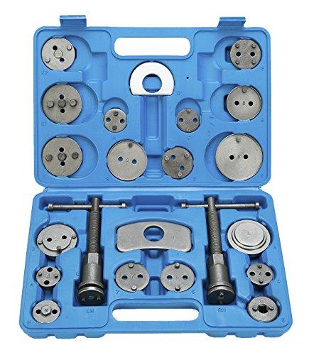 FreeTec Set di ripristino pistone del freno per spostare indietro il pistone dei freni a disco, ganasce dei freni o per il cambio delle pastiglie, 22 pezz