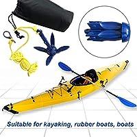 Greatideal Kayak Anchor Sup Ancla para Paletas Y Embarcaciones, Anclas Plegables De Aluminio para Embarcaciones De Pesca En Kayak
