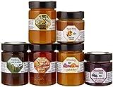 Südtiroler Kräuter Gold Bio Honigset mit 6 exclusiven Sorten, 4 x 450g und 2 x 260g