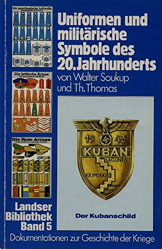 Uniformen und militärische Symbole des 20. Jahrhunderts.