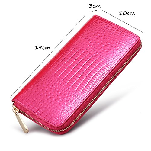 CLOTHES- L'Europa e gli Stati Uniti borsa in pelle borsa a mano borsa frizione Borsa Lady Borse Chain Pack Pack Ladies Dinner ( Colore : Nero ) Rose red
