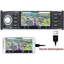 PolarLander Autoradio Bluetooth, Manos Libres Estéreo de Coche, Llamadas Manos Libres, 4 Pulgadas