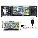 PolarLander Autoradio Bluetooth, Autoradio mit Freisprecheinrichtung, Digital Media-Receiver, Bildschirm Spiegelung für Android Phone/RDS/FM/USB/SD / MP3-Player Receiver mit Rückfahrkamera