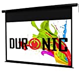Duronic HD Projector Widescreen Matte White Screen - Electric Motorised switch control