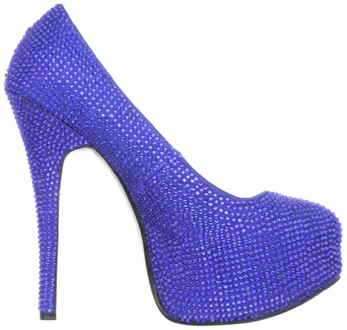 Pleaser Teeze-06r, Damen Pumps Royal Blue Satin Rs