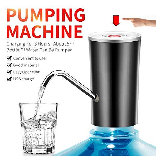 Stilove Wasserspender, Wasserspender, Pumpensystem, Wasserpumpe, USB-Ladekabel, abnehmbar, geeignet für den Einsatz in gefülltem Wasser, Wasserspender für Kannen