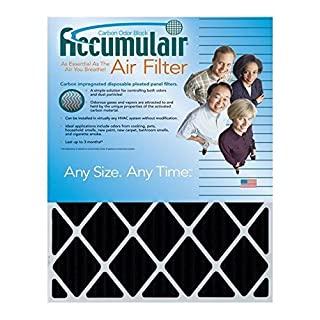 Accumulair Carbon 18x18x1 (17.5x17.5) Odor eliminating Air Filter/Furnace Filter by Accumulair