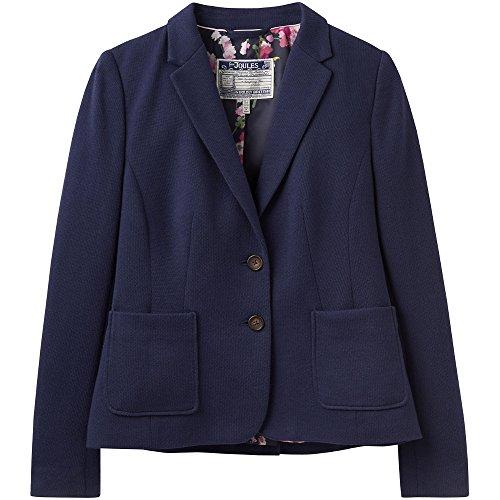 Joules donna' Ellice jersey tweed elegante doppio pulsante Blazer French Navy