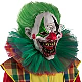 CARNIVAL TOYS S.R.L. Carnival Toys 1469 Maske Horrror Clown, Mehrfarbig, One Size