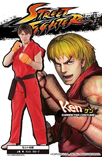 Street Fighter offiziellen Kostuem Ken Kostuem Herren ~ 180cm