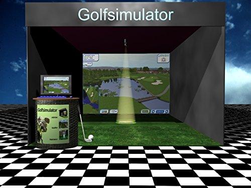 XXL Golfsimulator, 3 x 4 m Großbildleinwand MIETEN, animierte Bilder