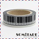 Piano Touches de musique Nouveauté Washi Tape, Artisanat ruban décoratif