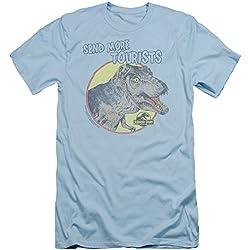 Parque jurásico dinosaurios película Spielberg más turísticos adulto Slim camiseta de manga corta Tee