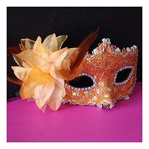 SCLMJ Halloween Party Kleid Maske Feder Seite Blume Dekoration Halbe Gesichtsmaske Maske Für Maskerade