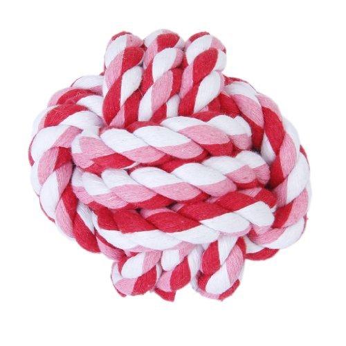 9cm Haustier Hund Geflochten Baumwolle Seil Knoten Ball Kauen Spielzeug Zahnreinigung Ball --- zufällige Farbe -