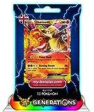 my-booster Charizard EX (Glurak) 11/83 180HP XY Generations- Booster mit 10 Englisch Karten Pokemon