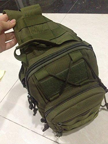 ZYT Minicassettiera tattico tasche multifunzione Pack esercito spalla ventilatore Messenger bag borsa da palestra Camo . black army green