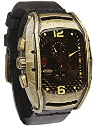 Welder Herren Armbanduhr/Chronograph Analog Quarzuhrwerk Lederband braun K42-800