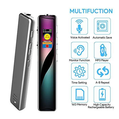 Mini-Farbbildschirm Digital Voice Activated Recorder Diktiergerät Audio Sound Recorder MP3-Player 4 GB A (Voice Activated Mp3-player)