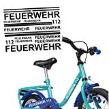 Feuerwehr Aufkleber Set für Fahrräder Bike Sticker verschiedene Farben | S4B0082