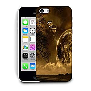 Snoogg Black Earth Designer Protective Phone Back Case Cover For Apple Iphone 5C
