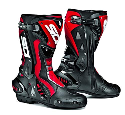 Sidi ST Motorbike Motorcycle Sports On Road Racing Boots, Black/ Red - Red - EC 45