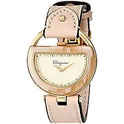 Salvatore Ferragamo de las mujeres fg5070014hebilla Beige reloj de cuarzo analógica