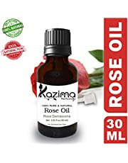 KAZIMA Rose Essential Oil - 100% Pure Natural & Undiluted For Skin care & Hair treatment
