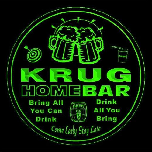 4x-ccq24562-g-krug-family-name-home-bar-pub-beer-club-gift-3d-coasters