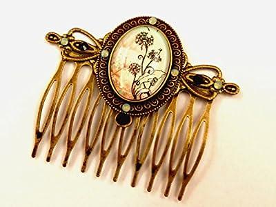Fleurs cheveux peigne accessoires de cheveux de mariée vert menthe