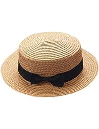 a84355962fdd9 ZARLLE Sombrero De Paja ala Ancha Paja Bowknot Transpirable Sombrero  Sombreros para El Sol del Verano