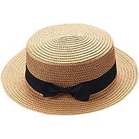 ZARLLE Sombrero De Paja ala Ancha Paja Bowknot Transpirable Sombrero  Sombreros para El Sol del Verano 36efc3e0238