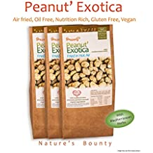 Grainny's Zero Oil, Air Fried, Gluten Free, Vegan, and Natural Peanut' Exotica (Pack of 3) 540 Gms.