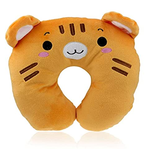 Indexp Lovely Cartoon Animal U Shaped Neck Relax Pillow Soft Car Home Office Rest Cushion (Brown)