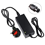 Revotek� 42V 2A Charger For Self Balance Scooter, Two Wheel Smart Skateboard,Swegway Hoverboard, Electric Bike 36v Lithium Battery Charger With 3-Prong Inline Connector