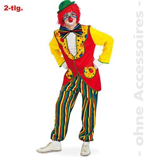 Clown Kostüm Coco - Party-Chic Clown Coco, Jacke + Hose, Größe XXL
