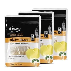 Comvita Lutscher für Kinder, Zitronen- und Honigfarben