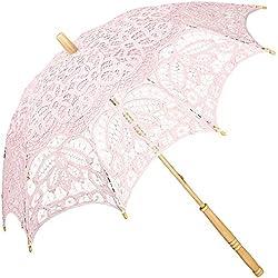 "Parasol novia, modelo ""Vivienne"", color rosa"