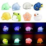 Ducha juguete bebé baño cambio de color LED Bombilla Luz vinilo juguete Mordedor