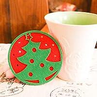 Oyedens 1pc Natale tavolino mat Acqua sottobicchieri isolamento pad sottobicchieri doily, colori casuali Xmas Tree