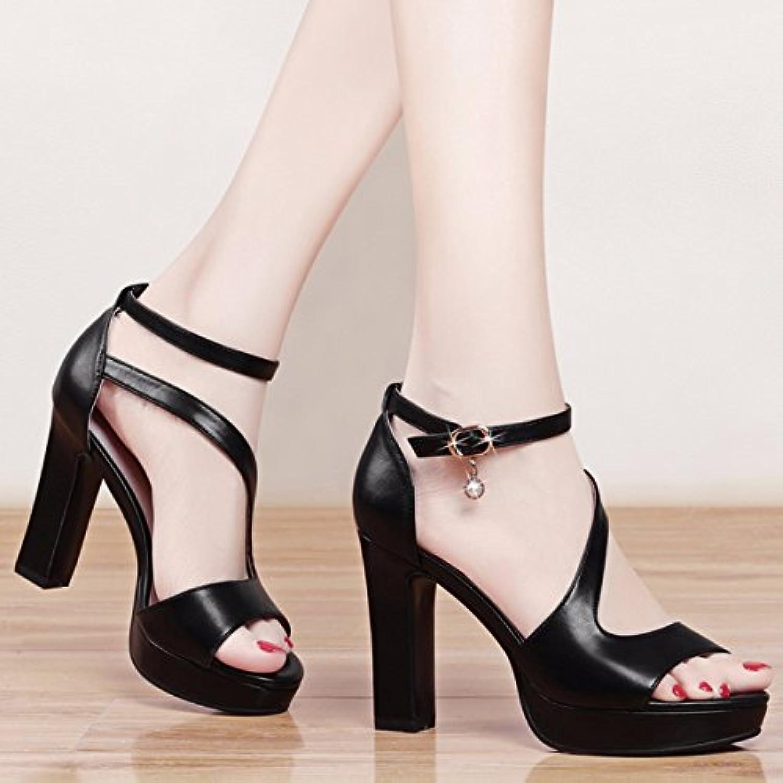 JRFBA-Zapatos Sandalias y zapatos de mujer, estudiantes de verano, High School Ladies' impermeable mesa,Cuarenta...