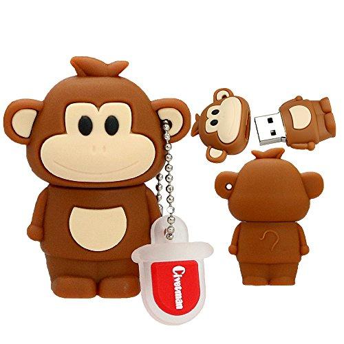 Novità scimmia cinese zodiaco da 32 gb chiavetta usb 2.0 carino penna a forma di animale carino memory stick drive drive