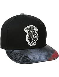 Sons Of Anarchy Splatter Print Reaper Logo Snapback Baseball Cap