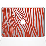 Die Aufkleber Guru 2046-mac-11a-p Zebra Streifen Aufkleber Vinyl Aufkleber, 27,9cm MacBook Air, Orange