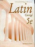 Latin, 5e. Livre du maître